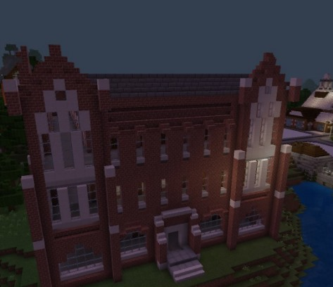 Presidents Hall in Minecraft