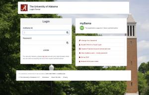 myBama homepage