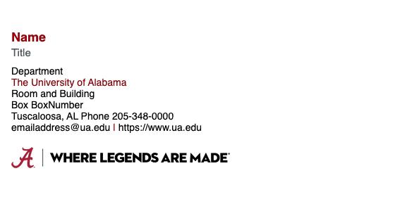 sample email signature